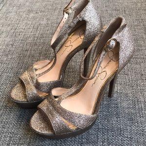 Gold Sparkle Jessica Simpson Heels